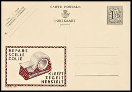 NEUVE CP ENTIER PUBLIBEL 1185 . REPARE SCELLE COLLE SCOTCH . KLEEFT ZEGELT HERSTELT - Publibels
