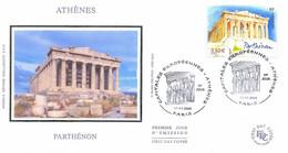 Enveloppe 1er Jour Athènes, Parthénon, 2004 (YT 3719) - 2000-2009