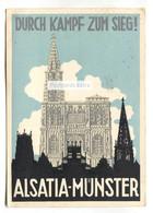 Alsatia-Münster - Durch Kampf Zum Sieg! - Old Germany Postcard - Munster