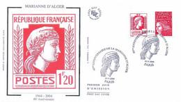 Enveloppe 1er Jour 60e Anniversaire Marianne D'Alger, 2004 (YT P3716) - 2000-2009