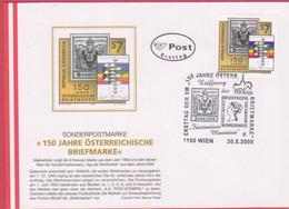 FDC 2000 - Mi 2316 (2) , 150 Jahre Österreichische Briefmarken , SST 1150 Wien - FDC