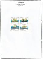 ENGLAND - STEEP HOLM - 2000 - Ships O/p Millenium - Perf 4v Block - Mint Lightly Hinged - Cinderellas