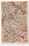 23355 WONA Landkarten Ak Olbernhau, Zöblitz, Seiffen, Komotau Usw. Um 1930 - Zonder Classificatie