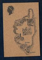 Carte De La Corse - Carte En Liège - Ohne Zuordnung