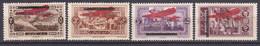 Grand Liban Timbres De 1927 Surchargés Poste Aérienne N°21/24 Neuf*charnière - Posta Aerea
