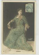 FEMMES - FRAU - LADY - SPECTACLE - ARTISTES 1900 - Jolie Carte Fantaisie Avec Paillettes Artiste Espagnole GUERRERO - Donne