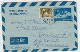 ISRAEL 1959 AEROGRAMME BY AIRMAIL DEER TO JOHANNESBURG SOUTH AFRICA - Unclassified