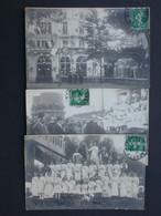Ref6094 Cartes Photos (x3) Animées - 1913 H. Guilleminot Et Cie - Défilé National Paris - Demonstrationen