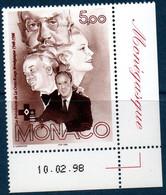 MON 1998  Cinquantenaire De La Croix-Rouge    N°YT 2147  ** MNH Coin De Feuille Daté - Unused Stamps