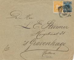 Nederlands Indië - 1901 - 12,5 Op 12,5 Cent Bontkraag + 2,5 Cent - Mengfrankering Van Weltevreden Naar Den Haag - Netherlands Indies
