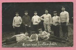 57 - SAINT QUIRIN - LETTENBACH Près ABRESCHVILLER - Carte Photo Militaire Allemande - Soldats Allemands - Otros Municipios