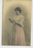 FEMMES - FRAU - LADY - SPECTACLE - ARTISTES 1900 - Jolie Carte Fantaisie Portrait Artiste Espagnole GUERRERO - Donne