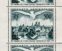 """Variete - """"Paris Brule"""" Par Coulée D'encre Sur YV PA 20 Au Centre D'un Bloc De 3 N** - Autres"""