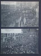 Ref6103 CPA Animées X4 - M.R. Poincaré à Limoges - Le Défilé, La Foule, Voiture Présidentielle - Demonstrationen