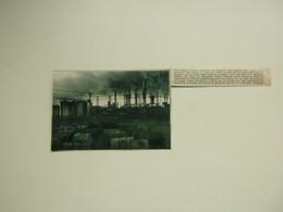 """Origineel Knipsel ( A 494 ) Uit Tijdschrift """" De Stad """"  1932 :  Brand   Zelzate - Zonder Classificatie"""