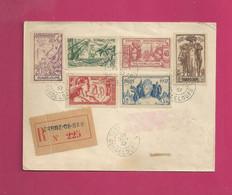 Lettre Recommandée De 1937. YT N° 133 à 138 - Exposition Internationale De Paris - Storia Postale