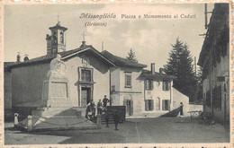 """00313 """"(LE)  MISSAGLIOLA (BRIANZA) - PIAZZA E MONUMENTO AI CADUTI"""" ANIMATA. CART  SPED 1936 - Lecco"""