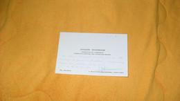 CARTE DE VISITE JACQUES SCHIRMANN INSPECTEUR DE L'ARMEMENT CIE MARITIME DES CHARGEURS REUNIS PARIS 8.. - Visiting Cards