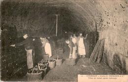 Epernay Champagne Alcool Caves E. Mercier Et Cie Mise En Casier Après Remuage Des Bouteilles Bouteille Marne N°12 B.Etat - Epernay