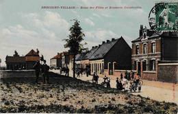 62 Drocourt - Village école Des Filles Et Brasserie Coopérative Couleur - Non Classés