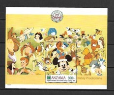 Disney Tanzania 1991 Christmas Cards MS #1 MNH - Disney