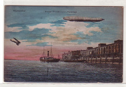 36598 Ak Blumenthal Zeppelin über Bremer Wollkämmerei Pieranlage Um 1920 - Zonder Classificatie