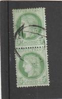 N° 53  Vert Jaune  +  CACHET A DATE    - REF 10337 - 1871-1875 Ceres