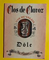 17998 - Clos De Clavoz Dôle Hoirs Jos. Rossier Sion - Andere