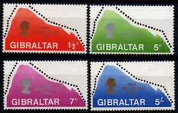 Gibraltar 1969, Scott 222-225, MNH, Rock Of Gibraltar, New Constitution - Gibraltar