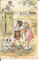 Illustrateur: Germaine Bouret - V'là Les Copains Qui Ramènent De La Viande Sans Tickets - Circulé - 2 Scans - Bouret, Germaine