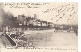 185. BESANCON . LES QUAIS VEIL-PICARD ET DE STRASBOURG . LE PONT BATTANT . CARTE ECRITE RECTO/VERSO LE 12-1-1916 - Besancon