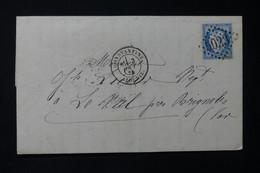 FRANCE / ALGÉRIE - Lettre De Constantine Pour Brignoles En 1874 , Affranchissement Cérès 25ct, GC 5023 - L 84562 - 1849-1876: Periodo Clásico