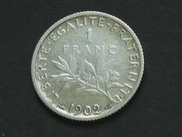 1 Franc  SEMEUSE  1902  **** EN ACHAT IMMEDIAT **** - H. 1 Franc