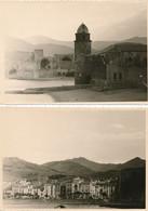 """LOT De 2 """" Photo Souple Format 12 X 8,5 Cm """"  De COLLIOURE  66 ( Recto Verso ) - Places"""