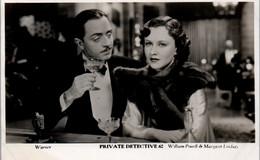 """Postcard - """"Filmshots"""" Private Detective 62, William Powell & Margaret Lindsay, Real Stills From Films - Sonstige"""