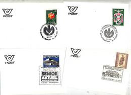 Lot 7 Carte Cachet Illustré Commemoratif à Voir - Marcofilie - EMA (Print Machine)