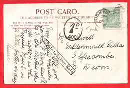 DUPLEX POSTMARK BIDEFORD DEVON + LIABLE TO LETTER RATE AND TAX DUE CANCELS - Other