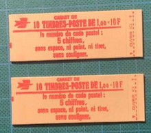 Carnet  - N°Y 1972 C2 - 2 Carnets 1 Avec Date  - Cote 46€ - Usados Corriente