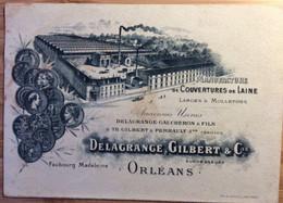 """Buvard """"carte De Visite""""manufacture De Couvertures De Laine à Orléans - Kleding & Textiel"""