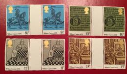 GB Mi. 719 - 722 , SG  1014 - 1017 500 Jahre Buchdruck 1976 Gutter Pair ** - Unclassified