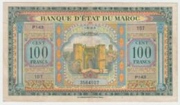 Morocco 100 Francs 1943 VF+ Pick 27 - Marokko