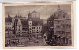 47190 Feldpost Ak Halle A. Saale Marktplatz 1942 - Sin Clasificación