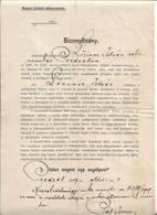 Railway Worker Oath Austro-hungarian 1907 Predeal Magyar Kiraly Vasut Caile Ferate Maghiare - Documentos Históricos
