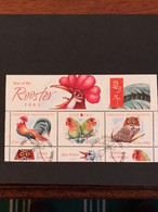 2005 Miniature Sheet Chinese New Year ( Year Of The Rooster) - Gebruikt