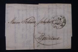 FRANCE -Cachet Avec Fleurons De Romorantin Sur Lettre En 1837 Pour Bordeaux - L 84601 - 1801-1848: Precursori XIX