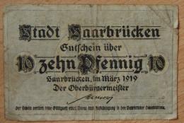 Allemagne - Sarrebruck 10 Pfennig Mars 1919 - [ 8] Saarland - Saar