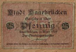 Allemagne - Sarrebruck 25 Pfennig Mars 1919 - [ 8] Saarland - Saar
