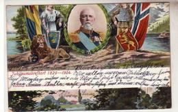 53388 Ak Jubileumsbrefkort 1829-1904 König Oscar II. Von Schweden - Suecia