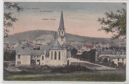 54588 Ak Bad Nauheim Von Den Gradierbauten Katholische Kirche Um 1910 - Unclassified