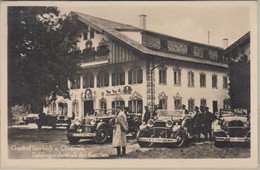 Bayern - Seebruck Gasthof Lambach Hitler Autos Sw-Fotokarte Gelaufen 1936 - Unclassified